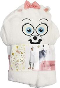 Kids Fleeced Hooded Blanket The Secret Life Of Pets 'Gidget' Dressing Gown Robe