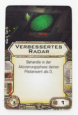 Verbessertes Radar Upgrade Karte Star Wars X-Wing Tabletop