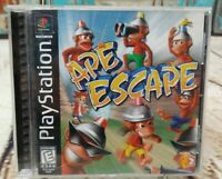 Ape Escape (Sony PlayStation 1 PS1, 1999) COMPLETE Black Label CIB PS1