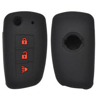 Silicone Remote Flip Key Case Fob Cover Sleeve For Nissan Rogue 2014-2019