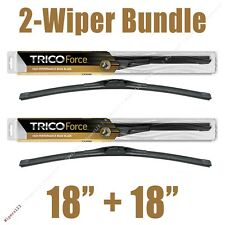 "2-Wipers: 18"" + 18"" Trico Force All-Season Beam Wiper Blades - 25-180 x2"