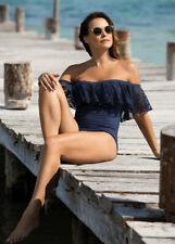 NEW Fantasie Marseille Bardot Swimsuit 34G - TWILIGHT