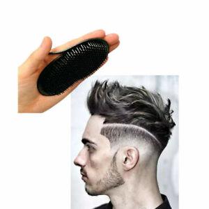 10Pcs Pocket Travel Hair Comb Brush Men Beard Mustache Palm Scalp Massage Black