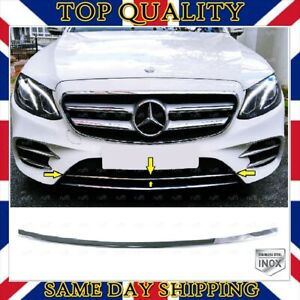 Chrome Front Bumper Under Grill S.STEEL For Mercedes W213 E class AMG 2016+