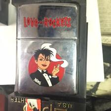 Vintage Retired Unstruck Zippo - Love and Rockets Smoker