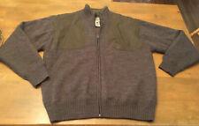 Beretta Men SZ MED Full Zip Wool Shooting Sweater Padded Jacket Brown Hunting