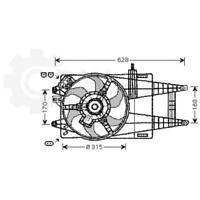 Fan Engine Cooling Radiator Blower Motor Fiat Punto Colours Van 188