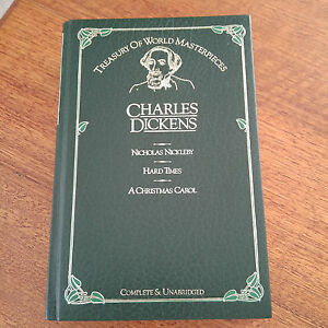 Treasury Of World Masterpieces Charles Dickens 1983, 3 Books In 1