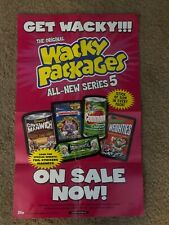 Topps Wacky Packages ANS 5 FOLDED Window Poster...