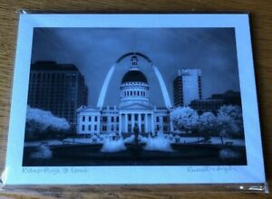 "Infrared Photograph 5 X 7"" Russell Grace Kullmann Kiener Plaza St. Louis Signed"