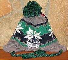 ZEPHYR NHL VANCOUVER CANUCKS Winter Hat Toque POM Tassels Peruvian Ski Toque