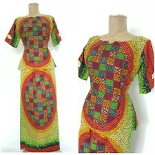 Cultural Ethnic Dress Size Medium Skirt Top Outfit African Tribal Long Cotton
