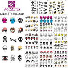 Skull Halloween Nail Art Stickers Water Transfer Decal 11 Sheets BLE1192-1202