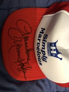 Rare Signed Champ Marvelous Marvin Hagler Signed Simply Marvelous Hat Jsa Cert