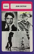 French Writer Playwright Designer Filmmaker Jean Cocteau French Film Trade Card