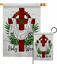 Holy Week Garden Flag Faith Religious Decorative Small Gift Yard House Banner