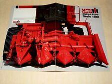 Prospectus Cueilleur CASE IH 1100  Tracteur Tractor Traktor Trattori Brochure