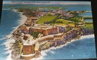 VTG PC Linen Morro Castle San Juan Puerto Rico Tichnor Bros. Boston Mass