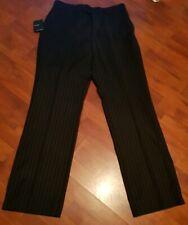 "remus uomo Mens Trousers  Black Striped SIZE 32""W/34""L"
