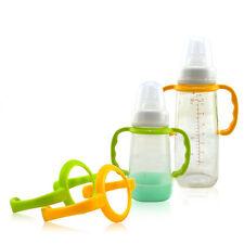 Fácil agarre lindo bebé botella de alimentación mango antideslizante multicolor