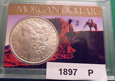 1897 p Morgan Silver Dollar MS Choice Uncirculated  Nice Luster See Pictures