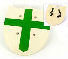 Gioco Armi: Scudo di legno crociato verde per bambini Toy Wood Shield
