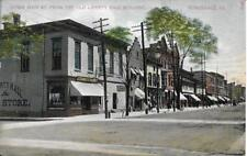 Down Main Street from the Old Liberty Hall Building Honesdale Pa Vintage unused