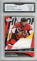 GMA 10 Gem Mint ERIK KARLSSON 2009/10 UD Upper Deck YOUNG GUNS ROOKIE SHARKS !