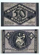 """HERZBERG 1920: """"Gutschein für den Kreis Schweinitz"""", 50 Pfg. NOTGELD (04)"""