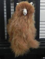 """NEW 100% Baby Alpaca 11"""" Teddy Llama Beautiful Cuddly and Soft – Brown PERU"""