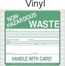 Non-Hazardous Waste Vinyl Labels HWL360V (PACK OF 500)