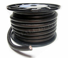 50 FT - PREMIUM 0 GAUGE BLACK POWER WIRE GROUND CABLE 1/0 AWG CAR AUDIO WIRING