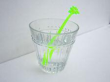 Bright Green Neon Palm Trees Luau Party Swizzle Plastic Stirrers 20 Ct Brand New