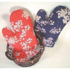 JAPAN/JAPANESE COTTON MITTEN FLOWER DESIGN COOKING KITCHEN