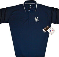 New York Yankees Majestic MLB Men's Polo Shirt Navy Blue Big & Tall Sizes NWT