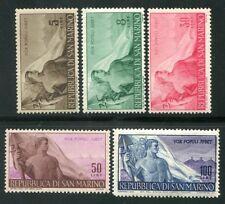 1948 San Marino Lavoro serie 5 valori nuovi integri ** MNH