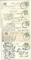 ! 1906 x 5 TEIGNMOUTH SKELETON POSTMARKS ON PPCS ALL DIFFERENT DATES - DEVON