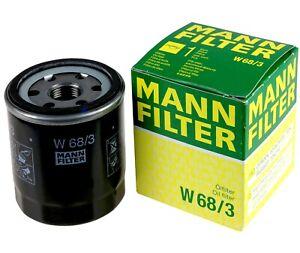 Mann-filter Oil Filter W68/3 fits TOYOTA COROLLA AE92 1.6 (AE92) 1.6 i (AE92)