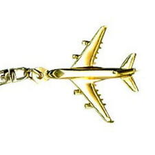 Airbus 380 Key Ring with Gold Plated finish