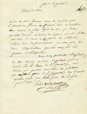 Joseph FOUCHE / Lettre autographe signée. Le souvenir de ROBESPIERRE. Révolution