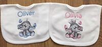 Personalised Embroidered Baby, Toddler, Bib, ANY NAME, Gift, Baby Shower, Cute.