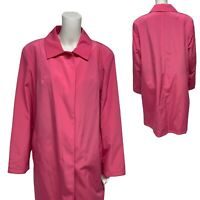 ESPRIT Plus women's long coat bubblegum pink button front size US 1X