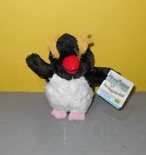 "6"" NEW Rock Hopper Penguin Wild Republic Hug Ums Bean Plush Stuffed Animal"