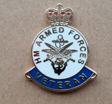 H M ARMED FORCES PIN BADGE