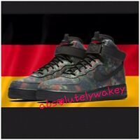 """Nike Air Force 1 AF1 High '07 LV8 """"Country Camp"""" Germany Patch UK 9 US 10 EUR 44"""