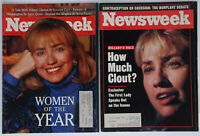 2 Newsweek Magazines Hillary Clinton How much Clout? Woman of the Year 1992-1993