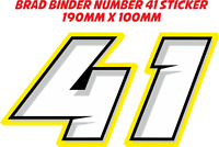 TP Brad Binder Number 41 Aufkleber Sticker / Decal - 190mm x 100mm /1121