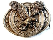 Vintage 1984 Bergamont American Eagle Go Army Reserve Belt Buckle