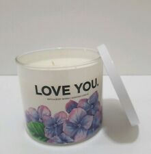BATH & BODY WORKS HOME *Love You* 3 WICK CANDLE NEW FRESH CUT LILACS