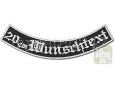 Rückenaufnäher Wunschtext Biker Kutte Patch Aufnäher MC Bogen unten stick 20cm